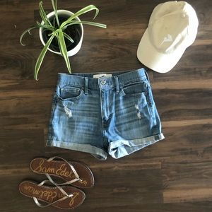 Hollister light denim shorts